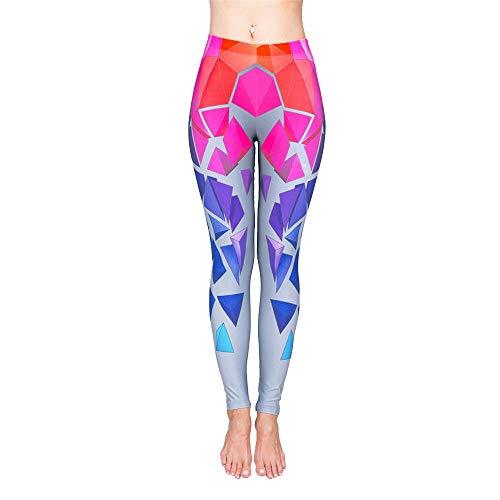 Sport Leggings Tights für Damen, Lifting Frauen-Hintern Geometrischer Patchwork Yoga Pants Leggings Workout Lauf Gym dünne Strumpfhosen Sport-Hose Sports Yoga Running Workout Hose Jogginghose