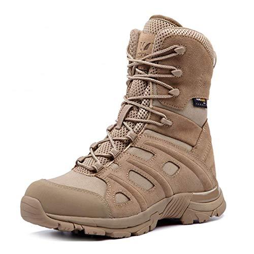 Botas de senderismo tácticas al aire libre, botas de combate antideslizantes, antiperforantes, anticolisiones, ligeras, adecuadas para senderismo, escalada, zapatos de trabajo