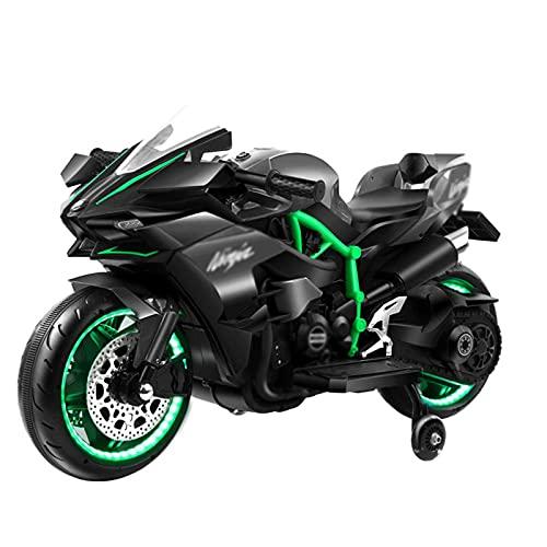 XLAHD Juguete para Montar en Motocicleta eléctrica para niños, Triciclo de Motocicleta de 3 Ruedas para niños con Pilas, Juguetes para niños y niñas, de 2 a 5 años, Verde