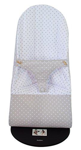 Funda para Hamaca BabyBjörn Balance Soft Reversible (Sustituye tapicería original) Estrellas gris