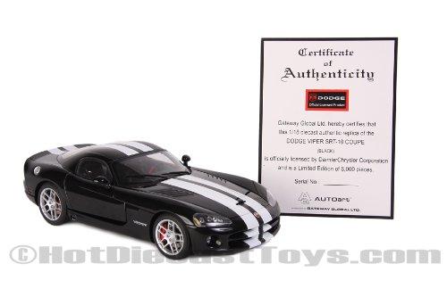 2008 Dodge Viper SRT10 Collectors Club L//E 1//24 Black w//Red Stripes