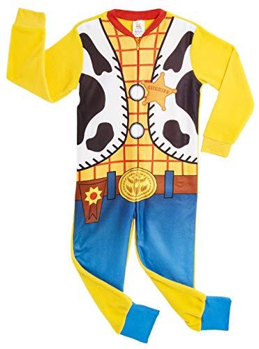 Disney Onesie para Niños | Mono Infantil con Personajes Woody Y Buzz Onesie Pijama para Niños | Mono PJ Todo En Uno para Niños | Regalo para Niños De 18 Meses A 6 Años (18/24 Meses, Woody)