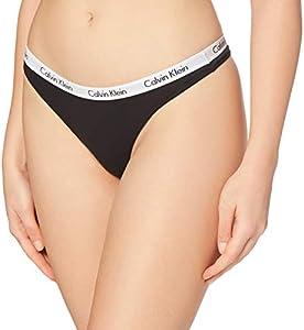 Calvin Klein Carousel-Thong Bragas, Negro (Black 001), Medium para Mujer