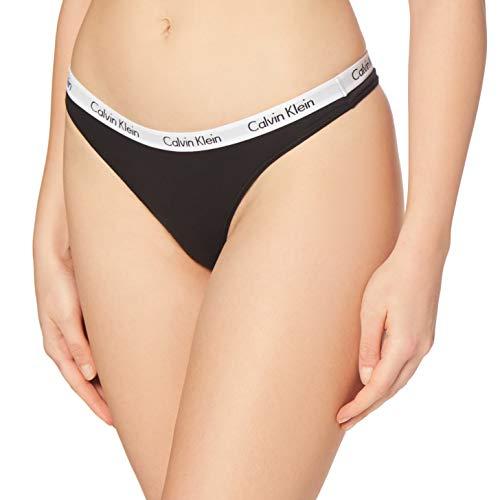 Calvin Klein Carousel-Thong Bragas, Negro (black 001), S para Mujer