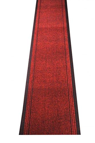havatex Schmutzfang Läufer Kongo - und schadstoffgeprüft | pflegeleicht schmutzresistent robust und strapazierfähig | Flur Diele Eingang Küche Küchenteppich, Farbe:Rot, Größe:80 x 200 cm