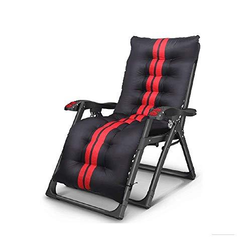 FHISD Camping-Klappstuhl, Camping-Liegestuhl, Zero Gravity, klappbarer Loungesessel mit Massage-Armlehne für Outdoor, Reisen, Strand, Liegestuhl, Indoor Nickerchen, Lazy Chair, 95°-166° Anpassung