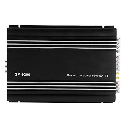 Amplificador estéreo para coche, 5200 W, amplificador de potencia de o de 4 canales, 12 V, aleación de aluminio negro, sistema de o para coche con amplificador estéreo de alta fidelidad