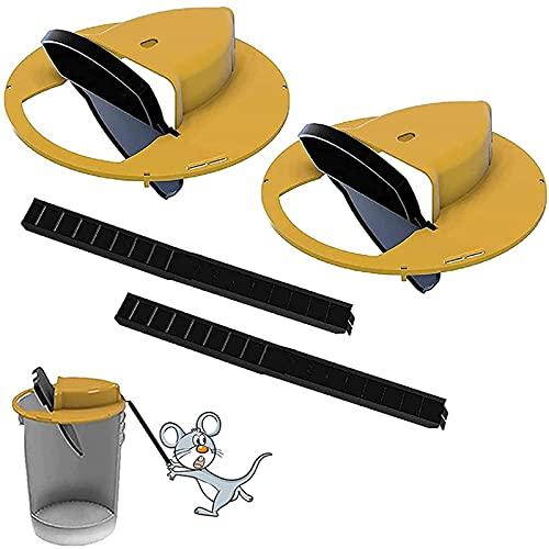 BMDHA 2 Paquetes Ratoneras para Atrapar Ratones,Trampa para Ratones Sin Muerte Flip Y Deslizamiento ExtraíBles Tapa De Ratonera Reinicio AutomáTico Trampa para Ratas