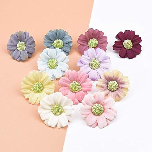 50 stuks scrapbooking decoratieve bloemen muur zijde daisy diy geschenken bonbondoos bruiloft home decor accessoires kunstbloemen, mix