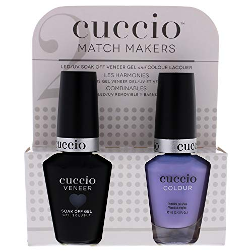 Cuccio Matchmaker - Colour Nail Lacquer & Veneer Gel Polish - Jamaica Me Crazy - For Manicures & Pedicures, Full Coverage - Long Lasting, High Shine - Cruelty, Formaldehyde & Toluene Free - 2 pc