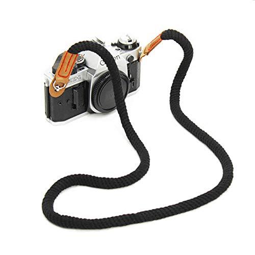 YJZQ Vintage Kameragurt Handgefertigt Schultergurt Bergsteiger Seil Baumwolle Digital Kamera Gurt Schulter Tragegurt Camera Strap für Leica Canon Nikon Fuji Olympus Lumix Sony.