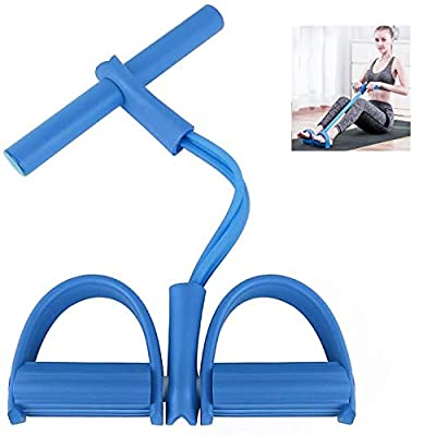FDAUY Pedal Sit-up Pull Rope Resistance Loop Exercise Bands,Elastic Rubber Exercise Puller for Home Working Out Stretching Fitness Equipment