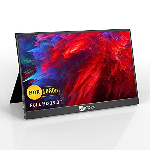 モバイルモニター モバイルディスプレイ ARZOPA 13.3インチ 1920*1080FHD 薄型モバイルモニタ PC/Mac/ミ...