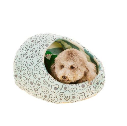 Egg-forme de maison Pet Kennel Doghouse Cute Cat (H25 * W37, BLEU)