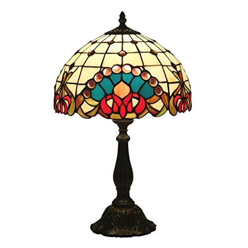 Kemeng Dekorative Tischlampen, 12-Zoll-Tiffany-Stil Barock-Nachtlicht, Buntglas Nachttischlampen...