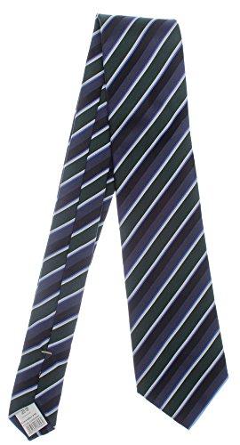 Seidenkrawatte gestreift grün blau schwarz 100% Seide Krawatte von Monti Herren Streifen 8cm