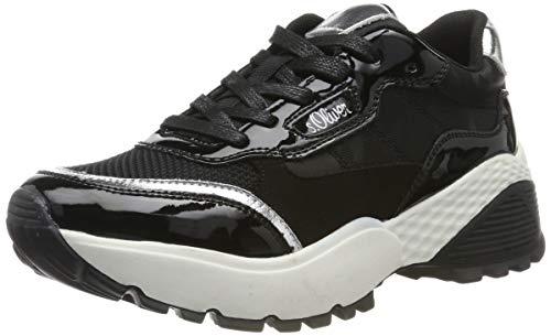 s.Oliver Damen 5-5-23610-23 Sneaker, Schwarz (Black Comb 098), 38 EU