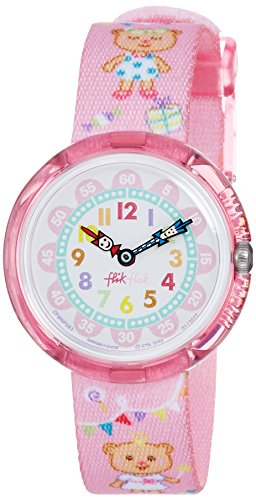 FlikFlak Mädchen Analog Quarz Uhr mit Stoff Armband FBNP083