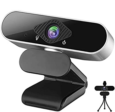 Webcam with Microphone Full HD 1080p Webcam for Video Calling, Streaming Webcam with Privacy Cover, 120° Wide-Angle View, USB Webcam Plug and Play, Low-Light Correction and Auto Focus