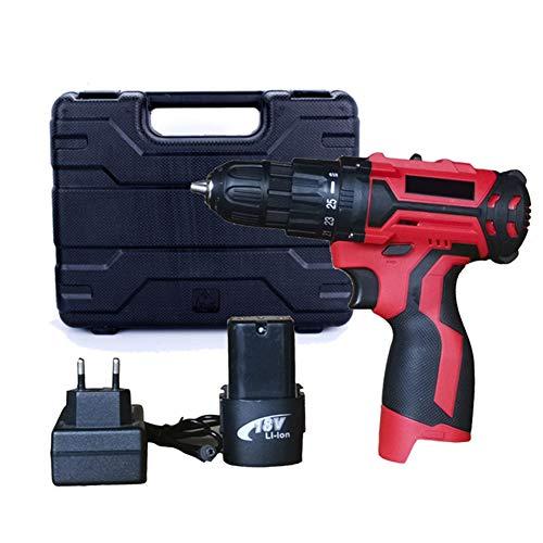 POOPFIY Profesional Taladro 12V / 16,8V Destornillador eléctrico Par máximo 25 NM / 35Nm, 2 velocidades Herramientas de Bricolaje para Trabajar la Madera,16v 1b