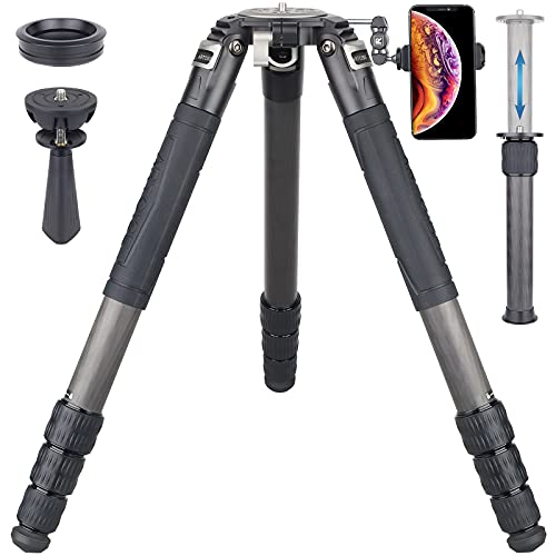 82' Carbon Fiber Bowl Tripod Heavy Duty Camera Tripod with 75mm Bowl and Adapter, 10 Layers Carbon Fiber 1.57' /40mm Leg Tube, Ultra Stable Professional Camera Tripod, Max Load 88Lbs/40kg (AS95C)