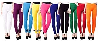 VIRAL Women's Soft and Pure Cotton Leggings (Multicolour) Combo Pack of 10- Size- XL, 2XL, 3XL.