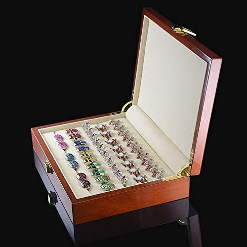 HYSJLS Caja de Regalo Caja de Madera Pintada de auténtico tamaño 240 * 180 * 55 mm Capacidad de almacenaje de la joyería Box Set Baratijas Organizador