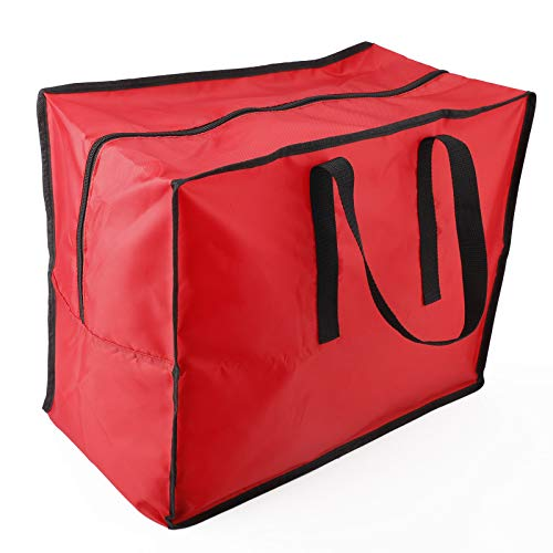 TRRAPLE Christmas Ornaments Storage Bag, Heavy Duty Large Holiday Bags Wrapping Paper Storage Bag Christmas Storage Organizer for Holiday Storage