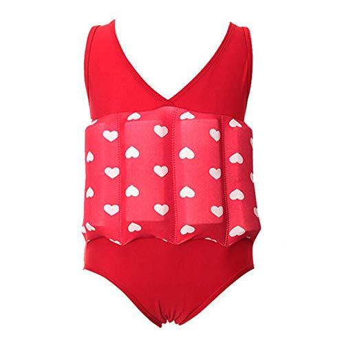 Lazzon Baby Badeanzug mit Entnehmbare Schwimmhilfe Ärmellos Bojenanzüge Einteiler Bademode Badebekleidung für Kinder Mädchen Jungen