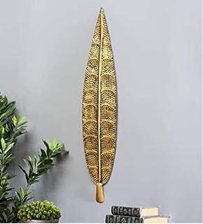 Mahalaxmi Art Handcrafted Iron Wall Hanging Iron Metal Ham Leaf Wall Art(39X1X8 in)