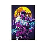 Wiz Khalifa Retro-Poster, dekoratives Gemälde, Leinwand,