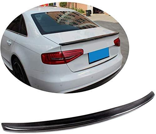 JYCX Alerón De Maletero Adecuado para Audi A4 B8 B9 Sline S4 Sedan 2009-2015 Alerón De Tapa De Puerta Trasera De Carbono