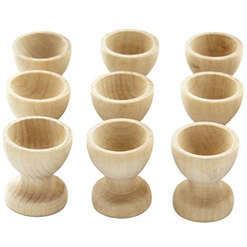 Juego 10 hueveras madera servir huevos cocina, huevos