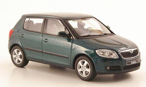 Skoda Fabia II, met.-grün, 2006, Modellauto, Abrex 1:43