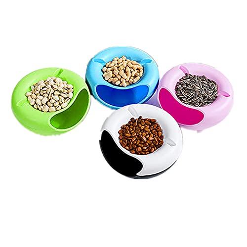 Allegorly Double Dish Smiley Nuss Schüssel Kreative Form Schüssel für Samen Nüsse trockene Früchte Aufbewahrungsbox tragbar aus Kunststoff für Lebensmittel Aufbewahrung Snack Süßigkeiten Obst