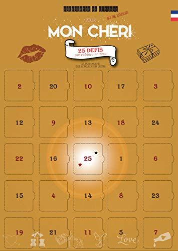 Adventskalender MON CHERI, 25 Herausforderungen zum Teilen als Paar - für vor oder nach einem Ereignis - für ERWACHSENE und Verliebte - FRANZÖSISCH
