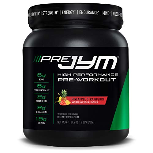 Pre Jym Pre Workout Powder - Bcaas, Creatine Hci, Citrulline Malate, Beta-Alanine, Betaine, & More |...