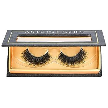 Arison Lashes Mink Eyelashes Fluffy 3D Mink lashes Natural Look Wispy False Fake Eyelashes Long Natural Real Mink Lashes Strips 1 Pair Pack for Makeup  AH09