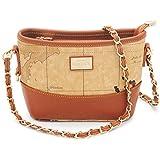Fashion Bucket Bags for Women Map Design Chain Strap Crossbody Bags Ladies Hobo Bags