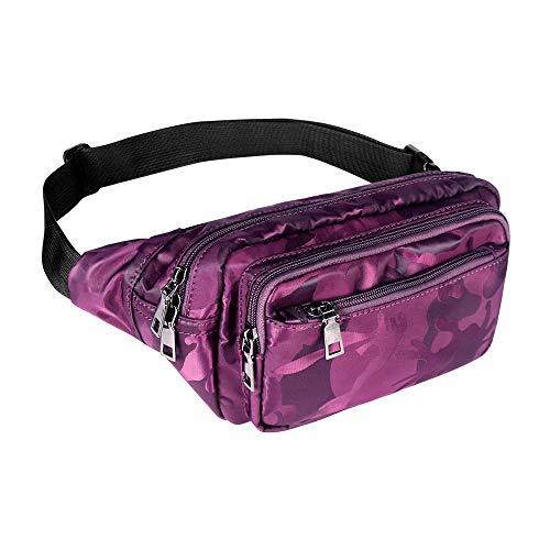 Geestock Bumbag Fanny Packs para hombres mujeres cintura paquetes impermeable ajustable cinturón...