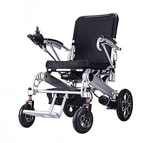 Wheelchair Silla de Ruedas eléctrica Silla de Scooter motorizada portátil, Ligera y Plegable para Movilidad para discapacitados y Ancianos, con batería de Iones de Litio de 20 Ah
