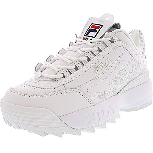 Fila Disruptor II Embroidery Women's Sneaker, White Navy RED, 8.5