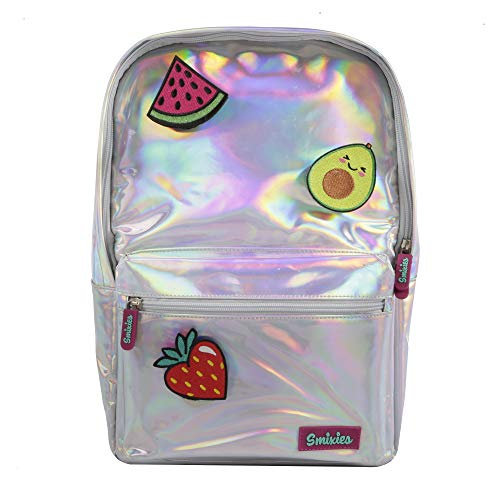 Smixies Kids Holographic Fruity Backpack for Girls, Large Rucksack Backpack for School, Unique gift