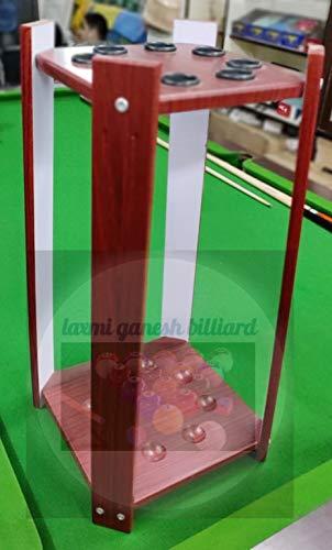 Laxmi Ganesh Billiard Snooker Billiard Wall Cue Rack (Holds 6 - Pieces Cues)