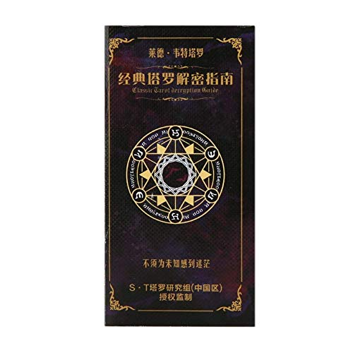 JJSFJH Tarjeta De Cartas del Tarot del Libro Y Espera For El Jinete Future Telling Game con Caja Colorida For Pronosticar Las Lecturas del Tarot del Destino
