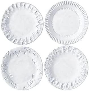 Vietri INC-1119 Incanto Assorted Canape Plates, White