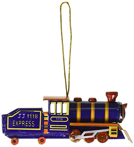 Alexander Taron AT2 Collectible Tin Ornament-Blue Train-1