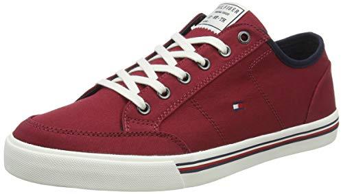 Tommy Hilfiger Herren CORE Corporate Textile Sneaker, Rot (Regatta Red Xit), 43 EU