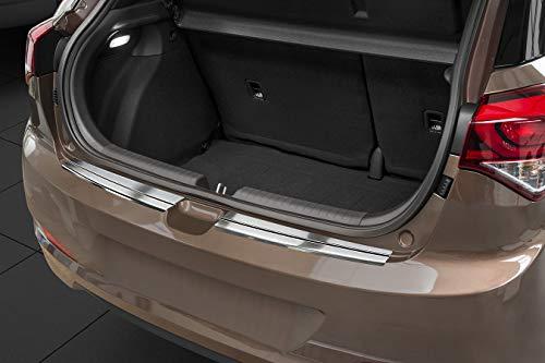 Avisa Protection de seuil arrière inox compatible avec Hyundai i20 II 5 portes 2015- 'Ribs'