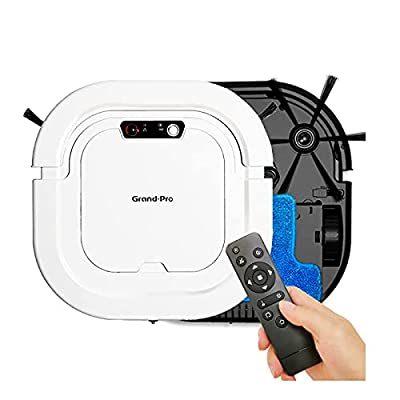Grand-Pro A1 Robot Vacuum Cleaner, Tangle-Free Suction , Square Design, Automatic Self-Charging Robotic Vacuum for Cleaning Hardwood Floors, Daily Schedule Cleaning, Filter for Pet, Slim & Quiet